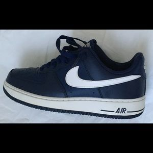 Size 10 Navy Blue White Air Forces